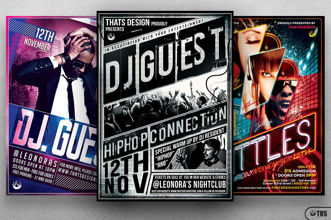 Special DJ Flyer Bundle V1 example image 1