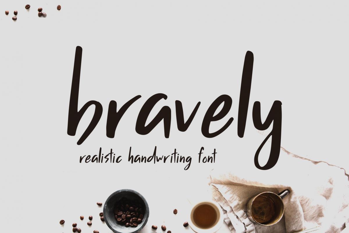 Bravely - Handwritten Font example image 1