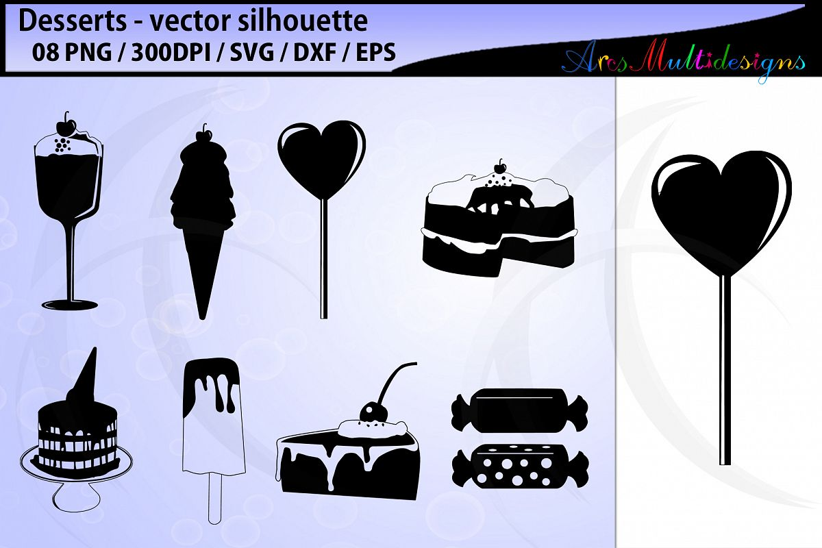 desserts vector svg silhouette example image 1