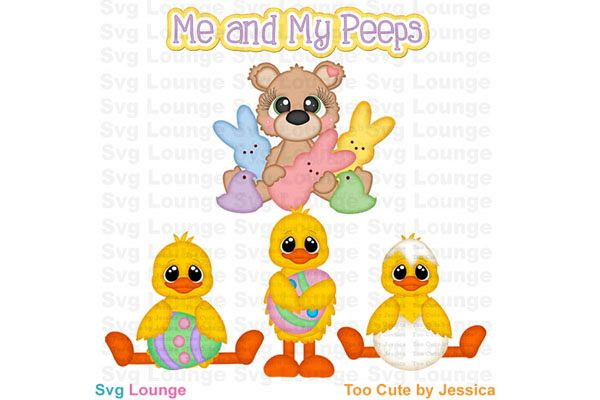 Easter Me and My Peeps SVG Cut File example image 1
