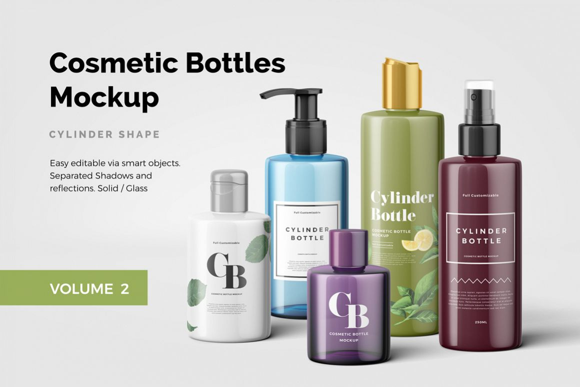 Cosmetic Bottles Mockup Vol.2 example image 1