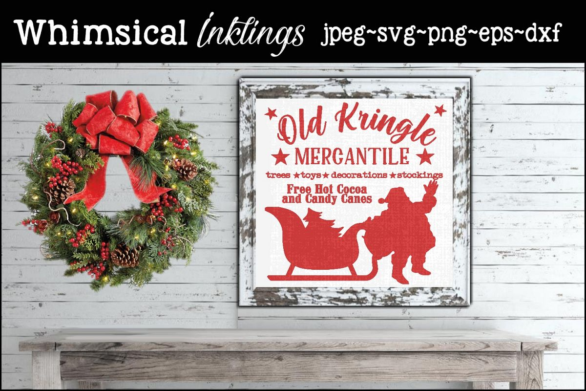 Old Kringle Mercantile SVG example image 1