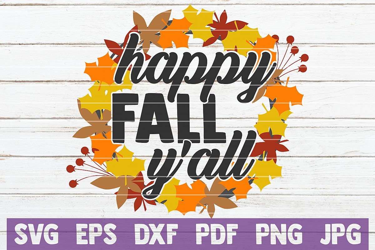 Happy Fall Y'all SVG Cut File example image 1