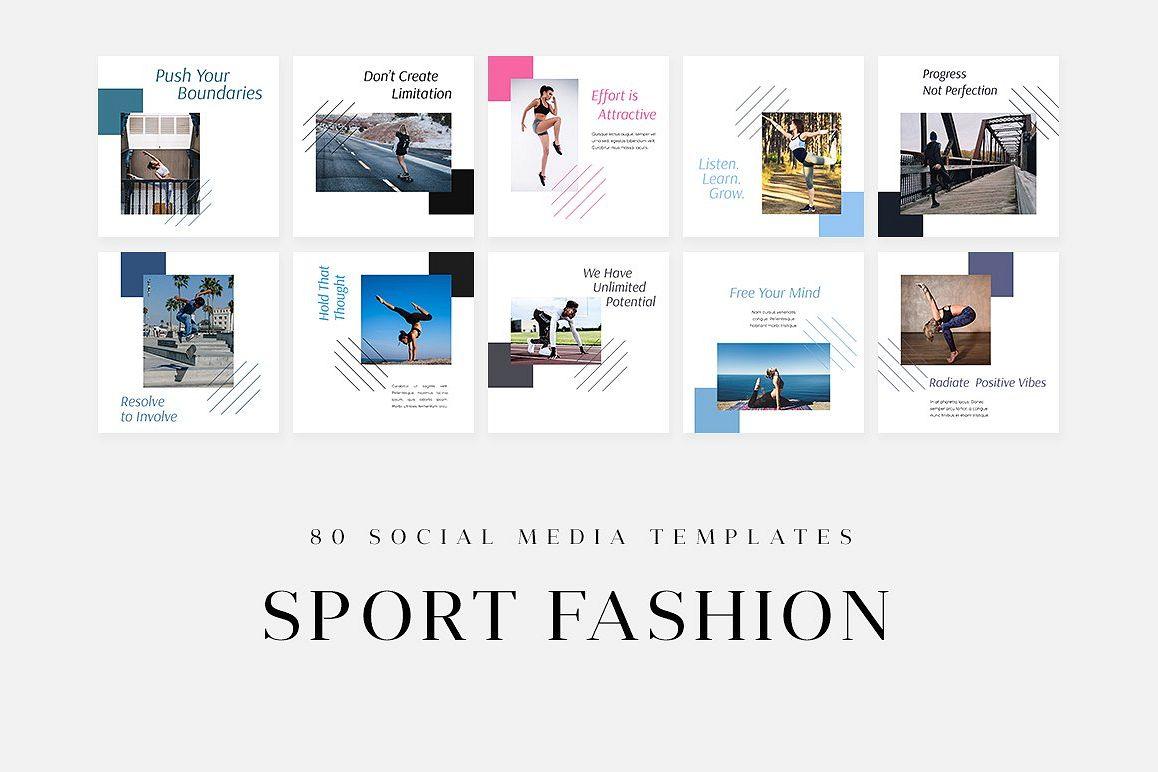 Sport Fashion Social Media Templates