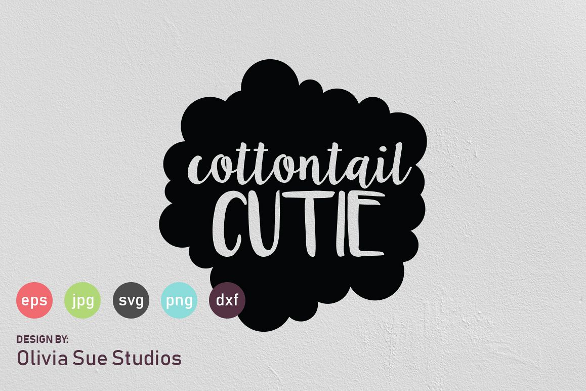 Cottontail Cutie Easter SVG Cut File example image 1