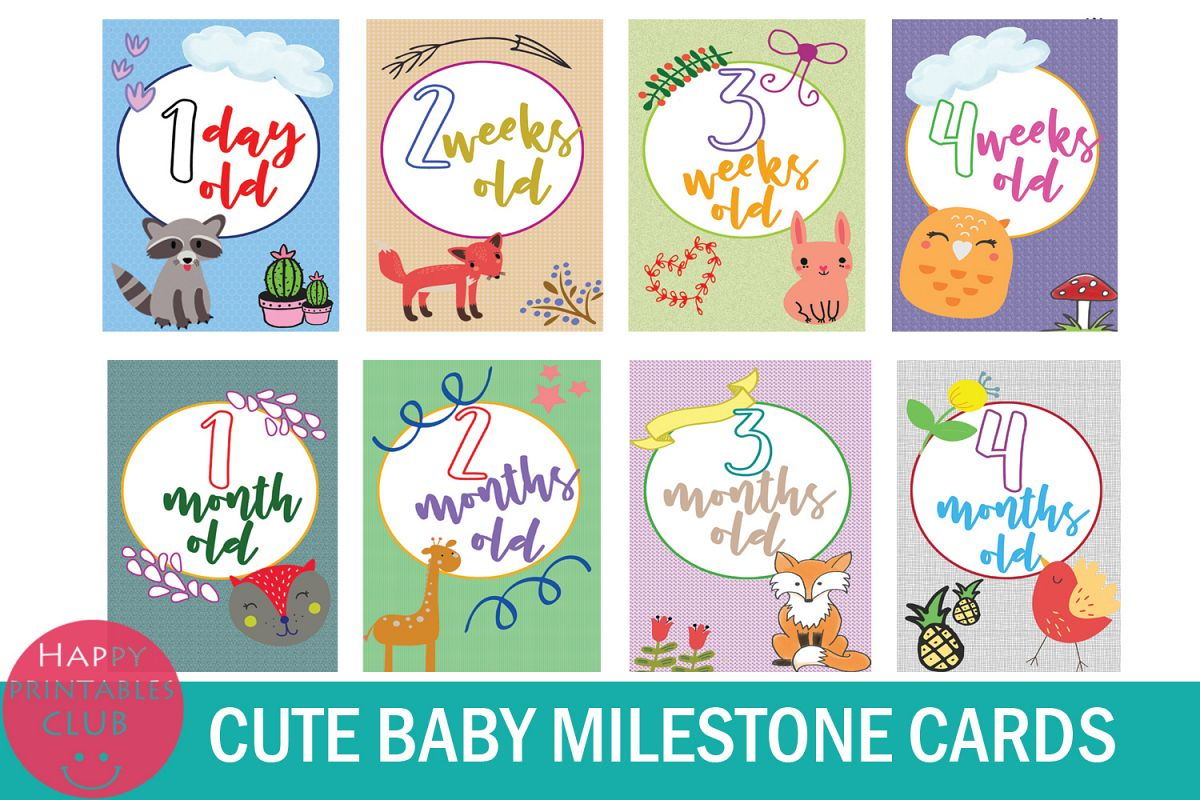 picture regarding Baby Printable titled 18 Adorable Kid Milestone Playing cards-Little one Milestone Printables