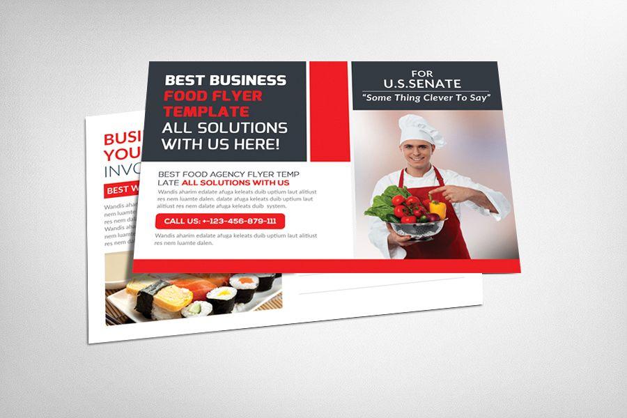 Restaurant Food Postcard Template example image 1