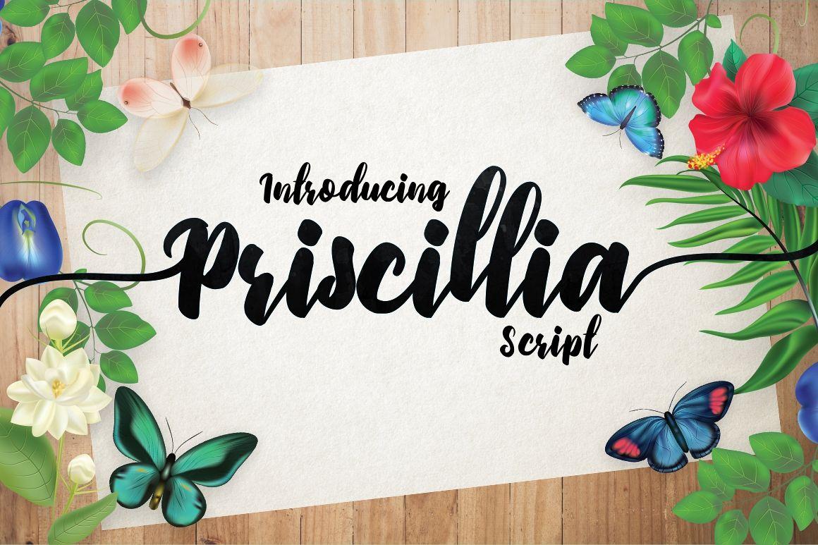 Priscillia Script example image 1