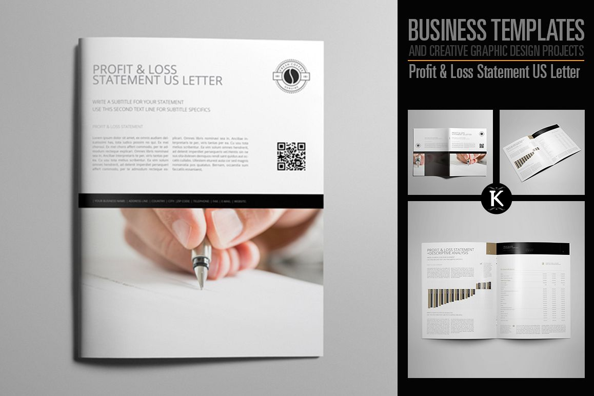 Profit & Loss Statement US Letter example image 1