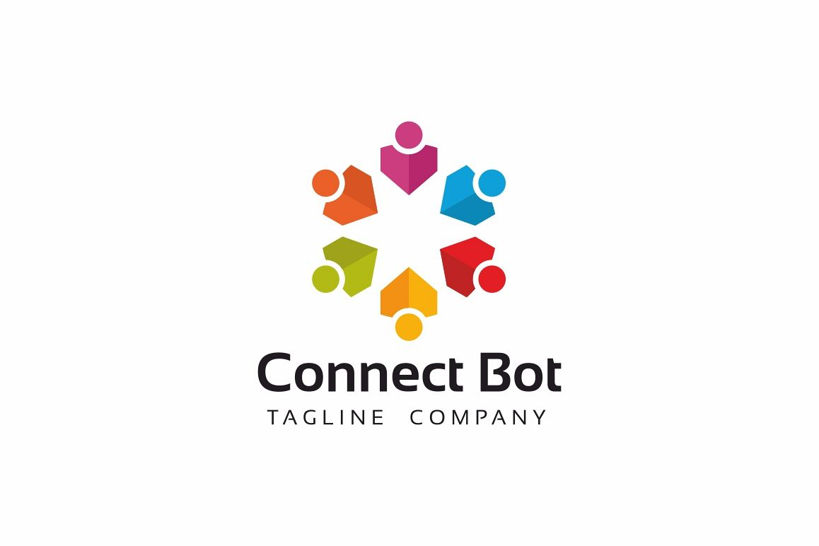 Connect People Logo Template example image 1