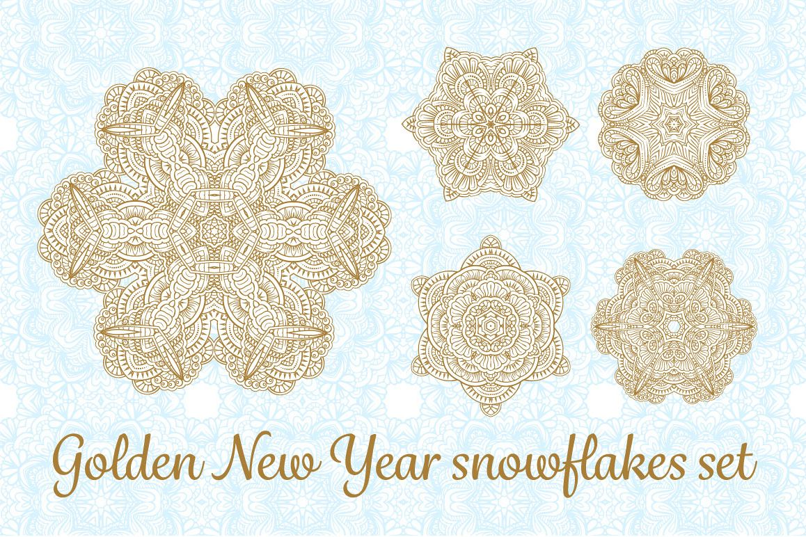 Christmas snowflakes vector set example image 1