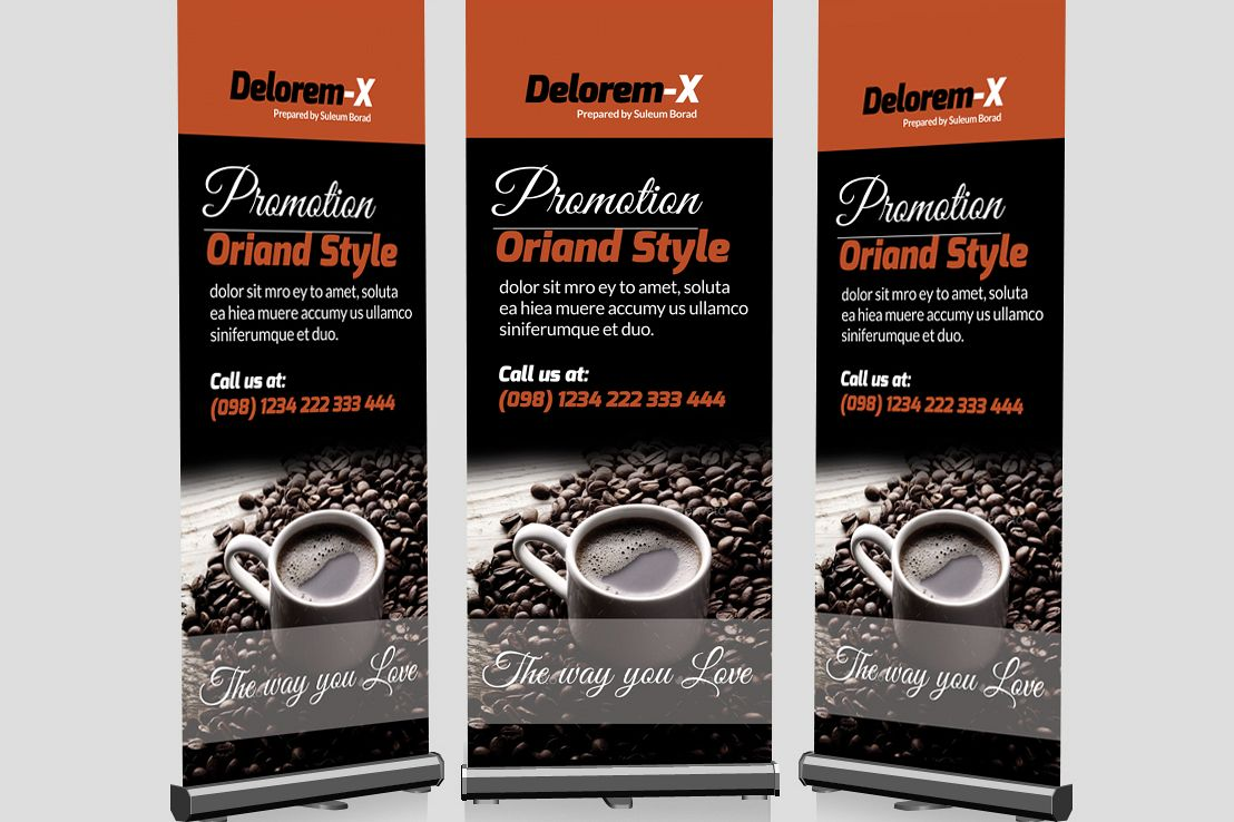 Cafe Restuarant Roll Up Banners example image 1
