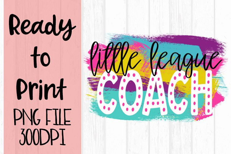 Little League Coach Bright Preppy Design Ready to Print example image 1