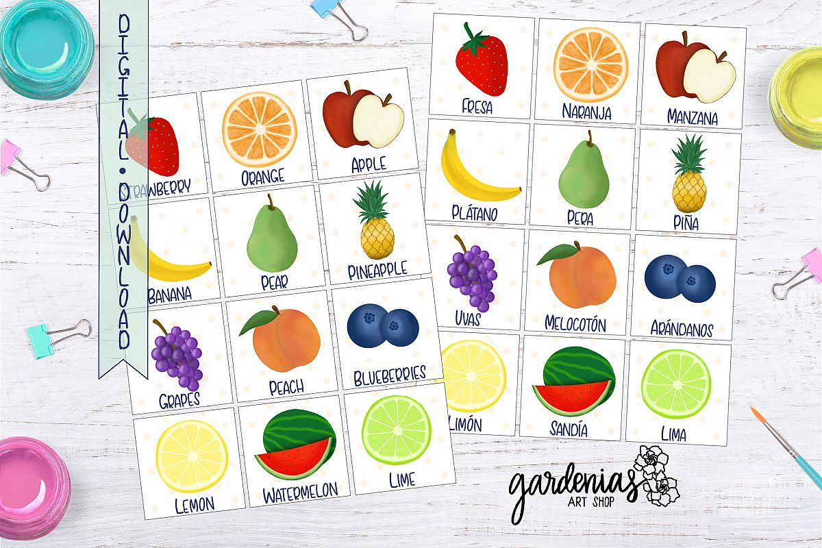 photograph about Printable Memory Game identified as Fruit Memory Sport Printable Matching Activity Fruit Playing cards