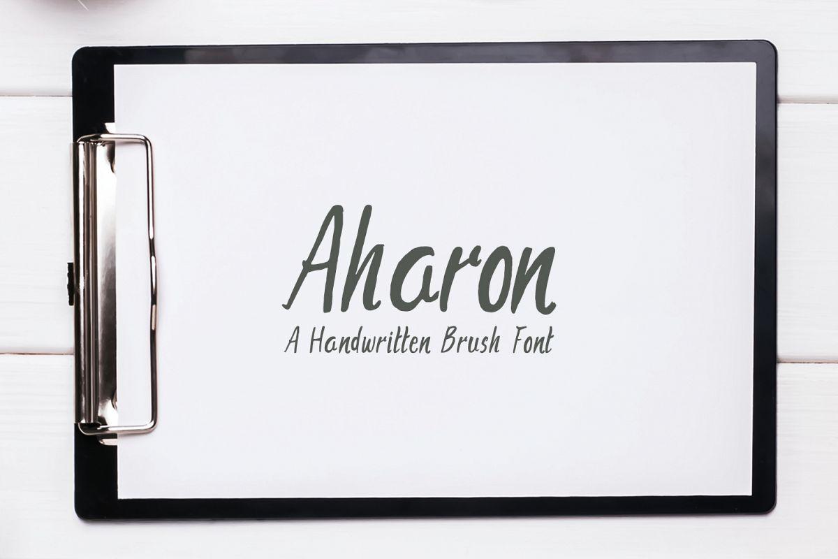 Aharon Handwritten Brush Font example image 1