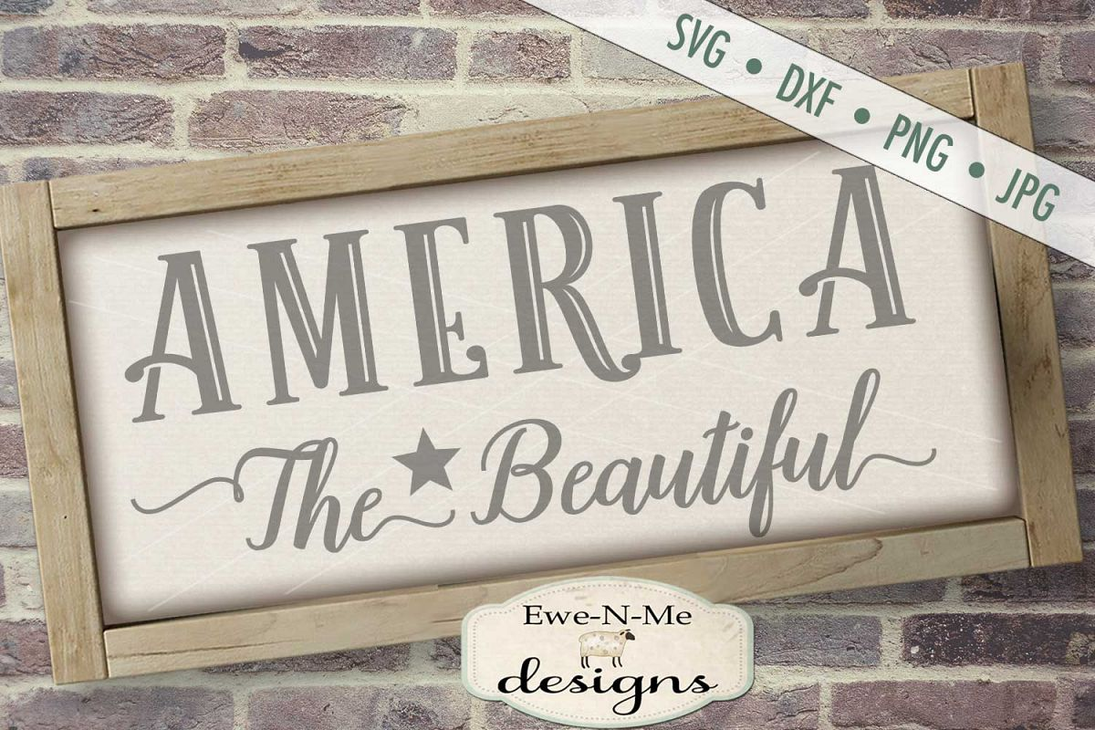 America The Beautiful SVG DXF Files example image 1