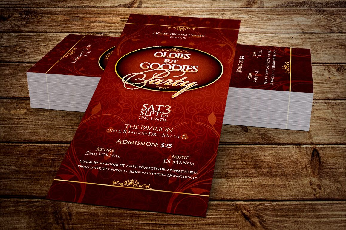 Vintage Party Ticket Template example image 1