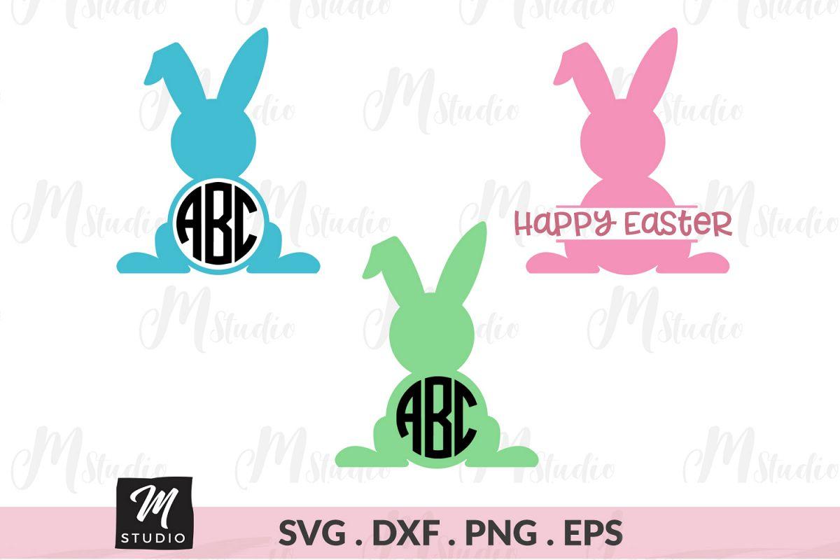 Rabbit Monogram svg. example image 1