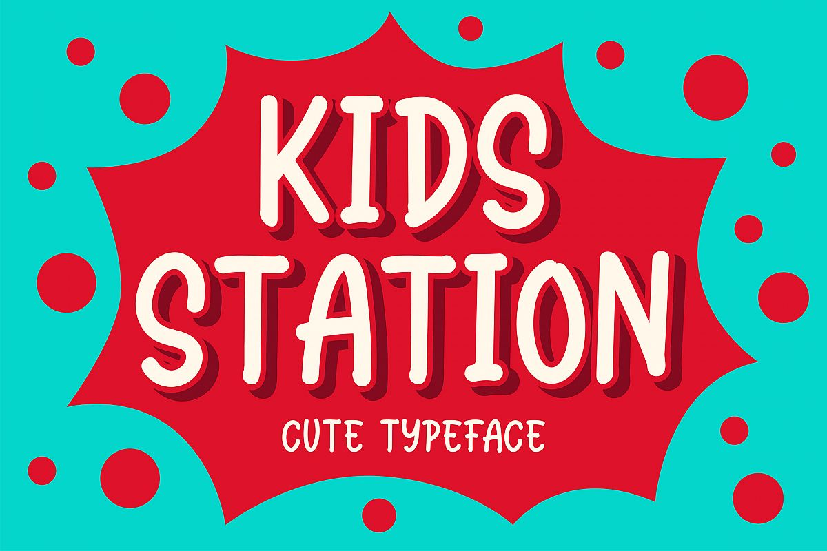 Station Kids - Cute Typeface example image 1