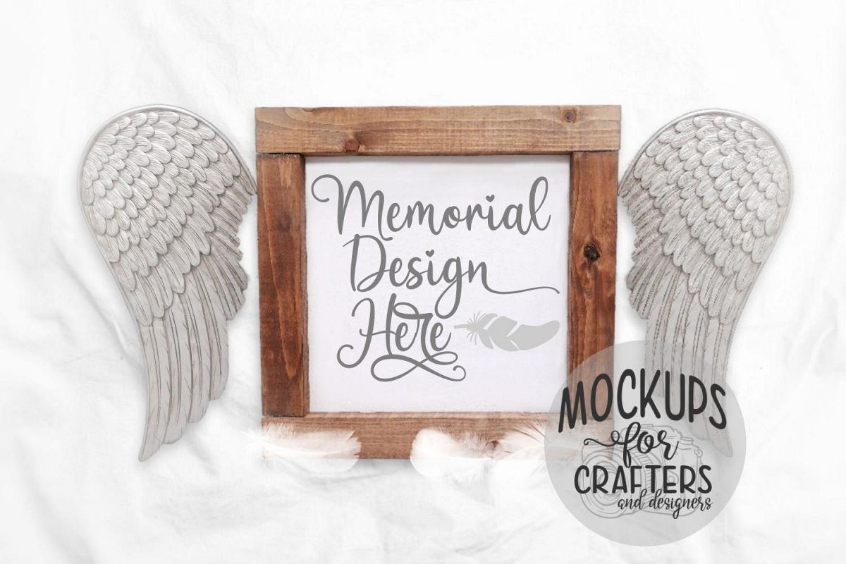 Wood Sign Mock-Up - Memorial theme example image 1