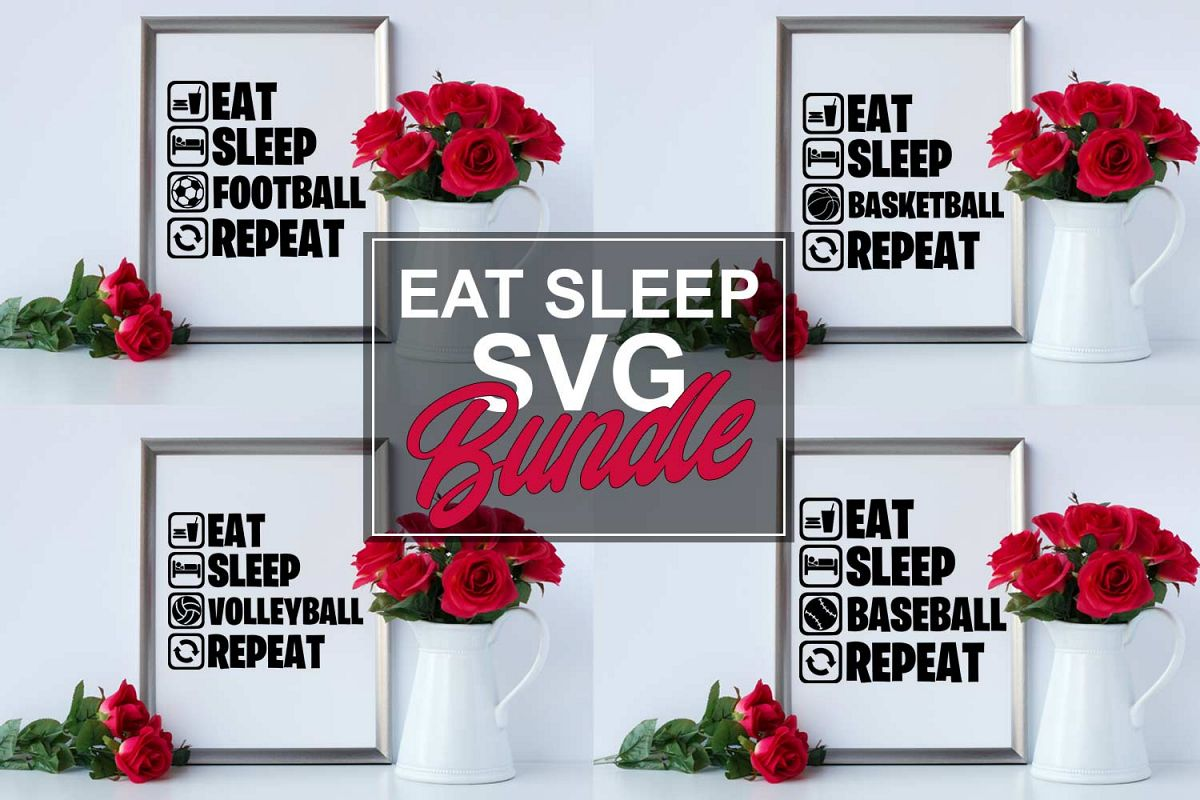 Eat Sleep SVG Bundle example image 1