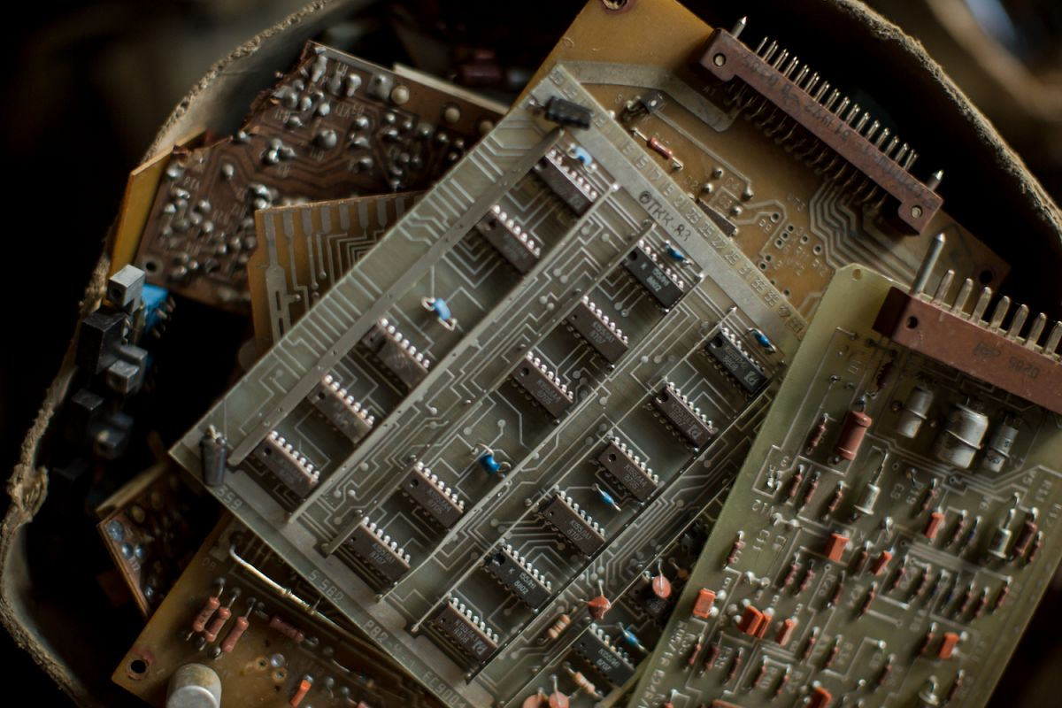 Computer chips background example image 1