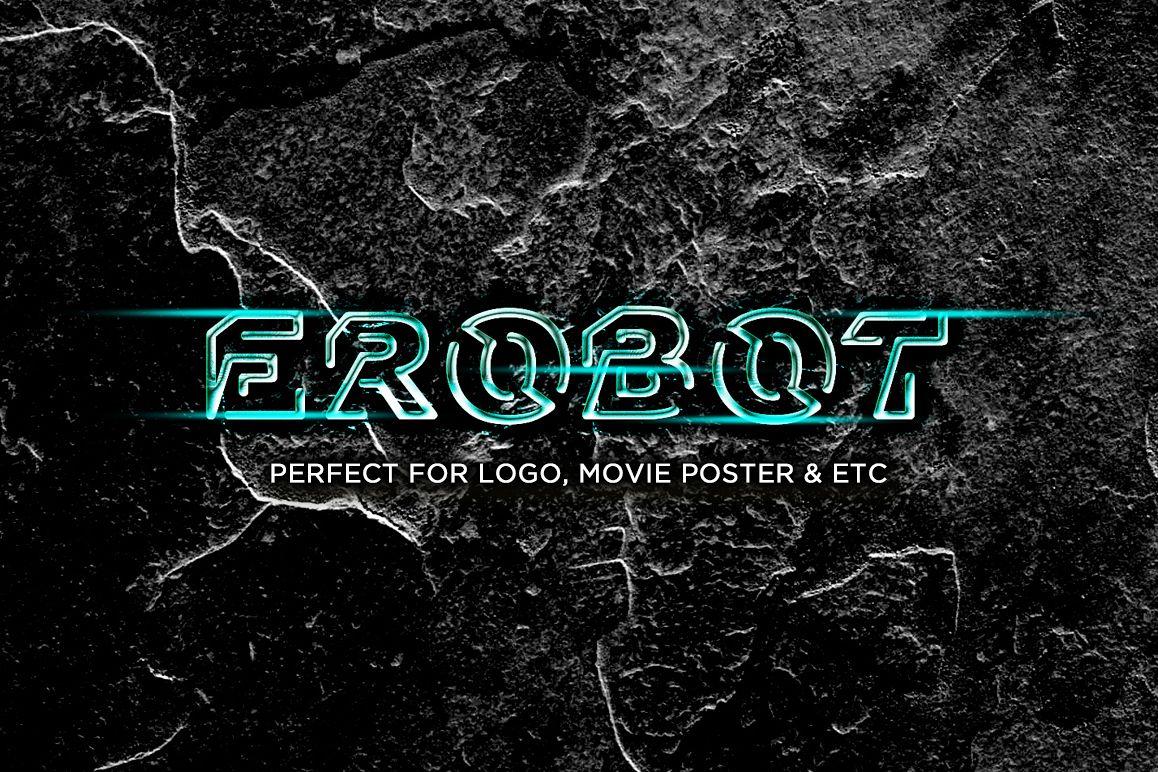 EROBOT Typeface example image 1