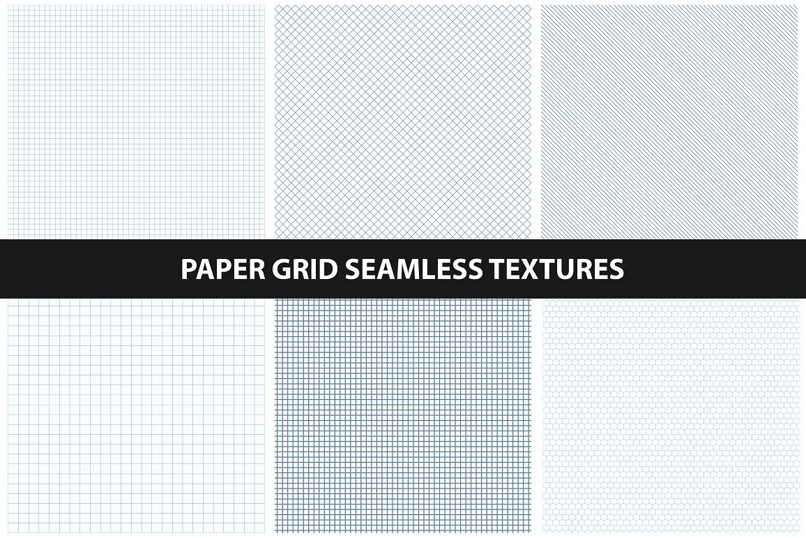 Grid patterns - seamless collection. example image 1