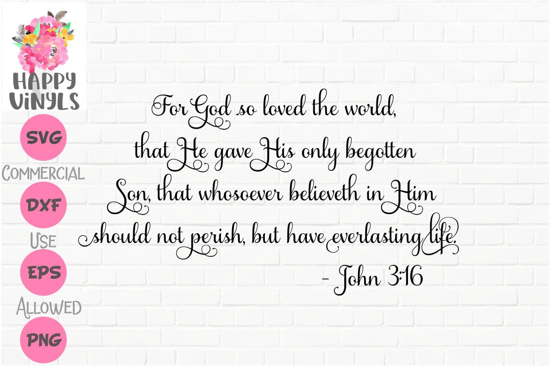 John 316 SVG Bible Quote SVG King James Version SVG