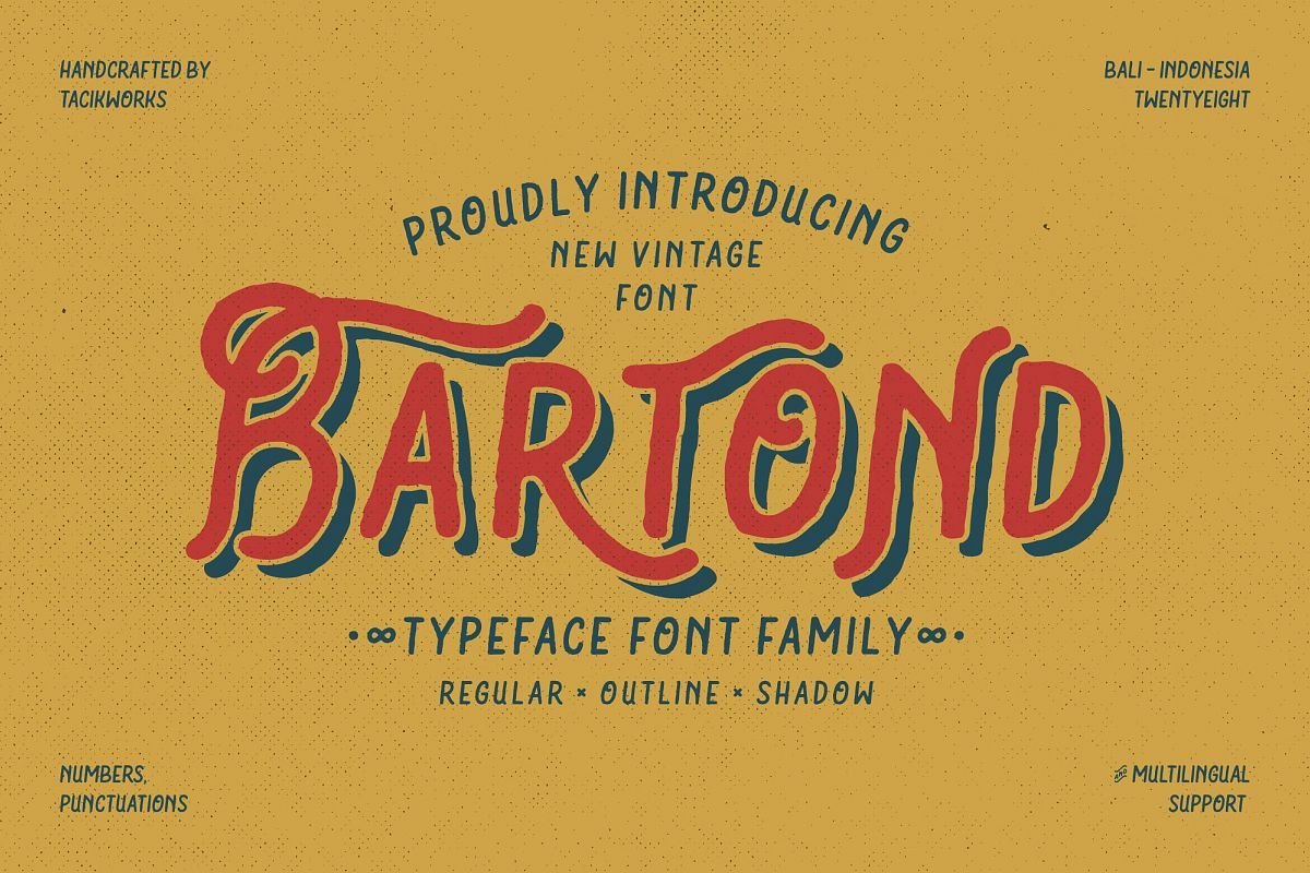 Bartond Typeface example image 1