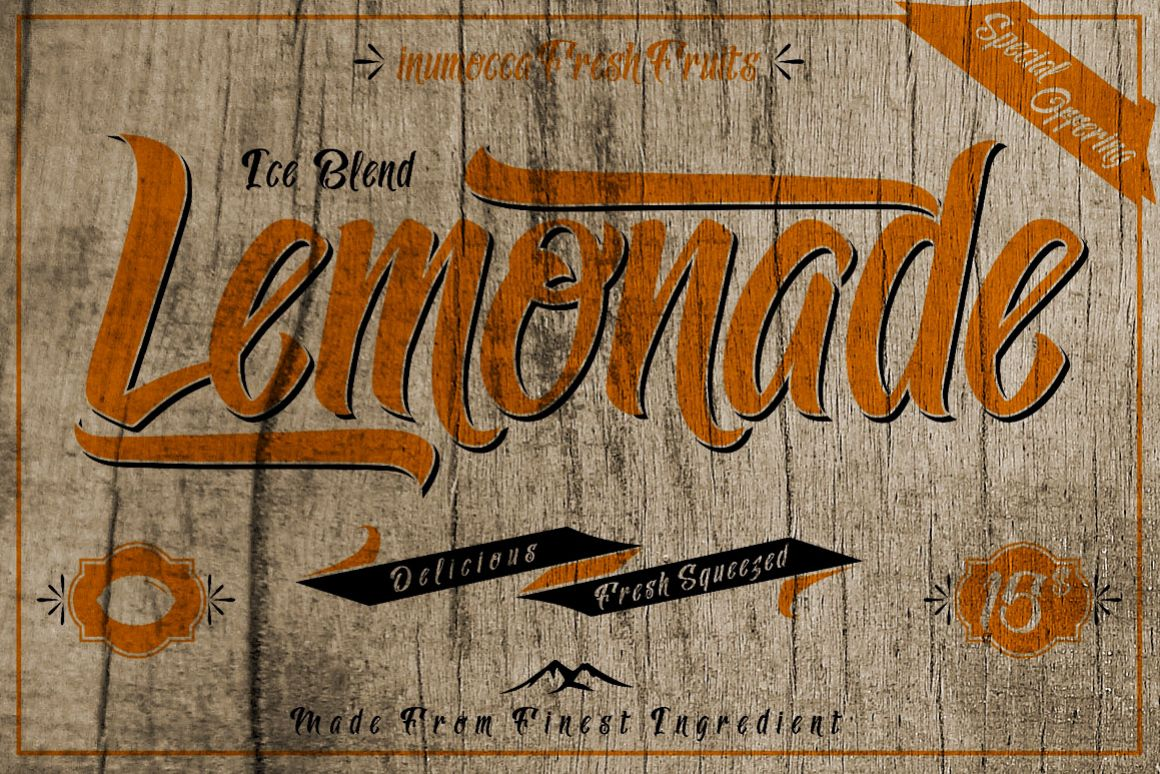 Lemonade Typeface with 5 Badges Bonus example image 1