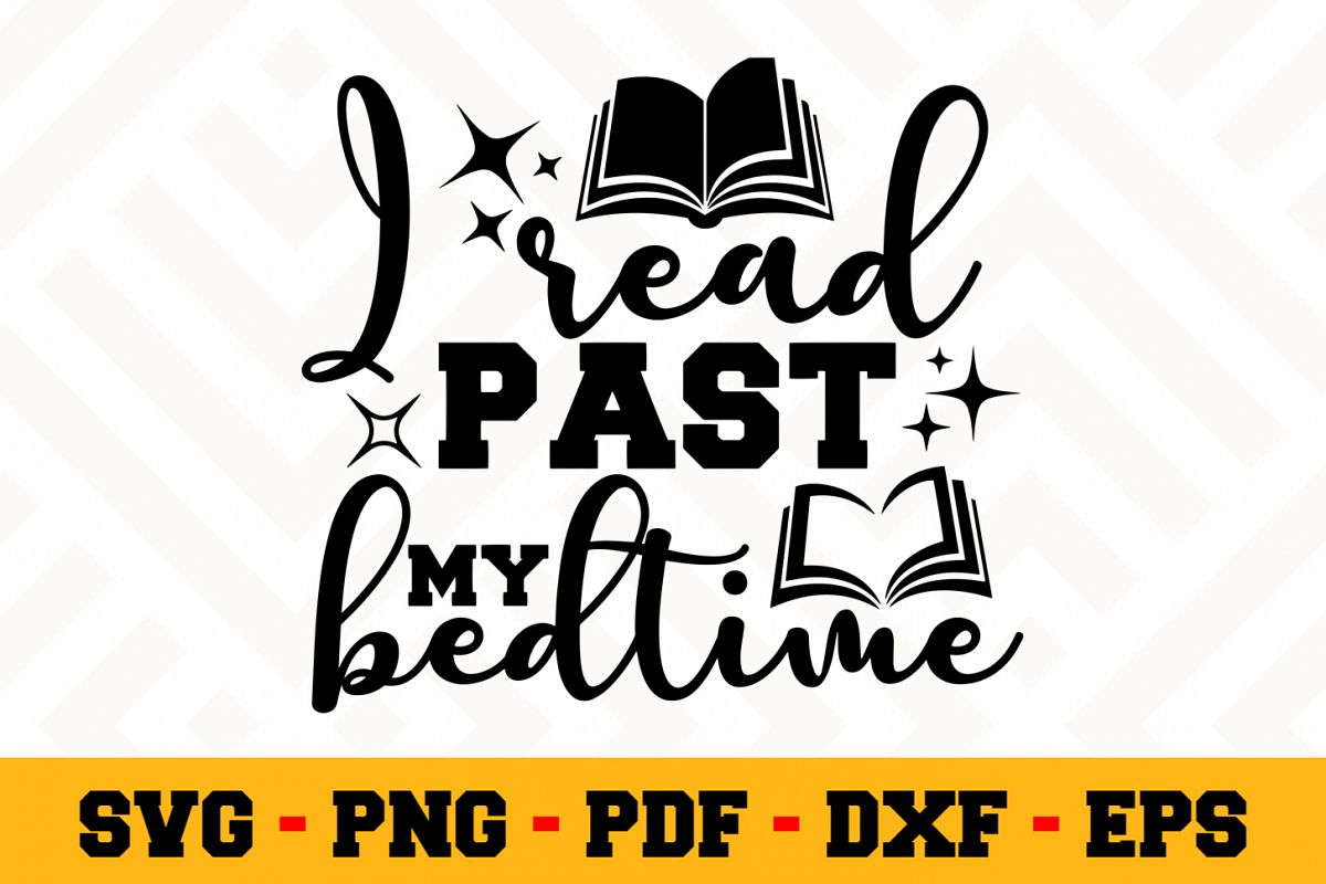 Book Lover SVG Design n623| Reading SVG Cut File example image 1
