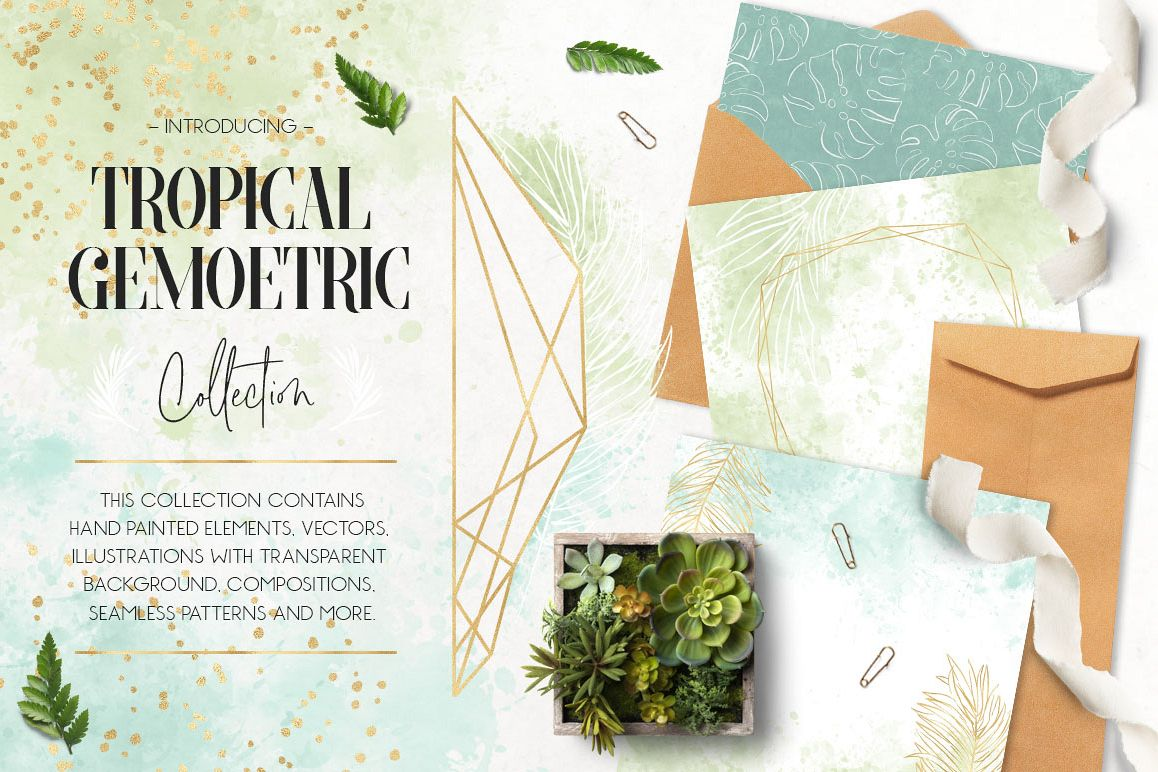 Tropical & Geometric Collection example image 1
