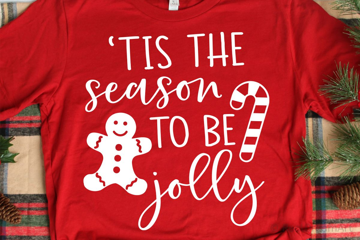 Tis the Season to be Jolly SVG, DXF, PNG, EPS example image 1