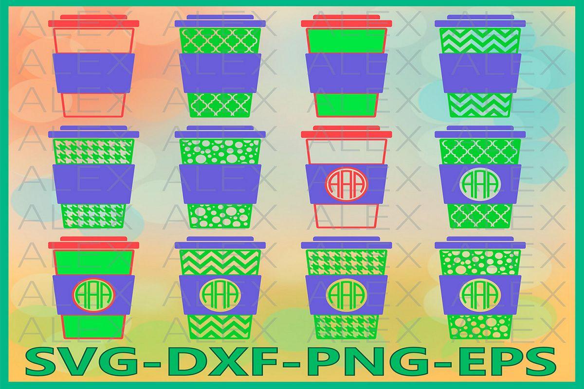 Coffee Monogram Svg Files, Coffee SVG Files example image 1