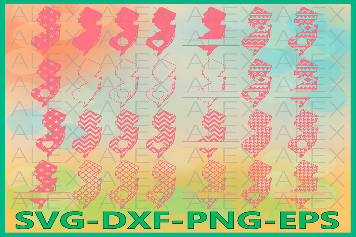 New Jersey State SVG, New Jersey SVG files for Cricut example image 1