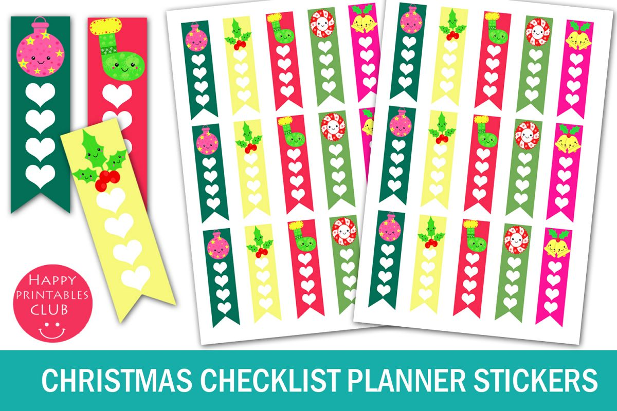 Christmas Checklist Planner Stickers-Christmas Stickers example image 1