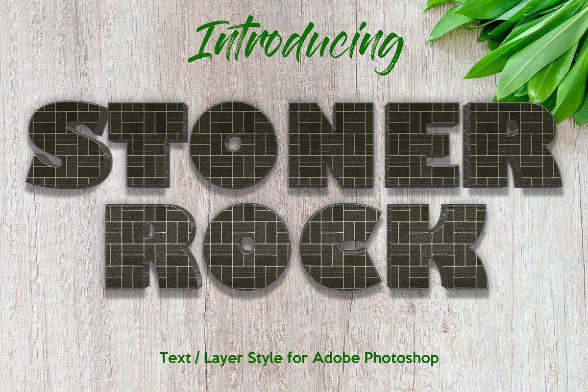 10 Stone / Rock Layer Style for Photoshop example image 1