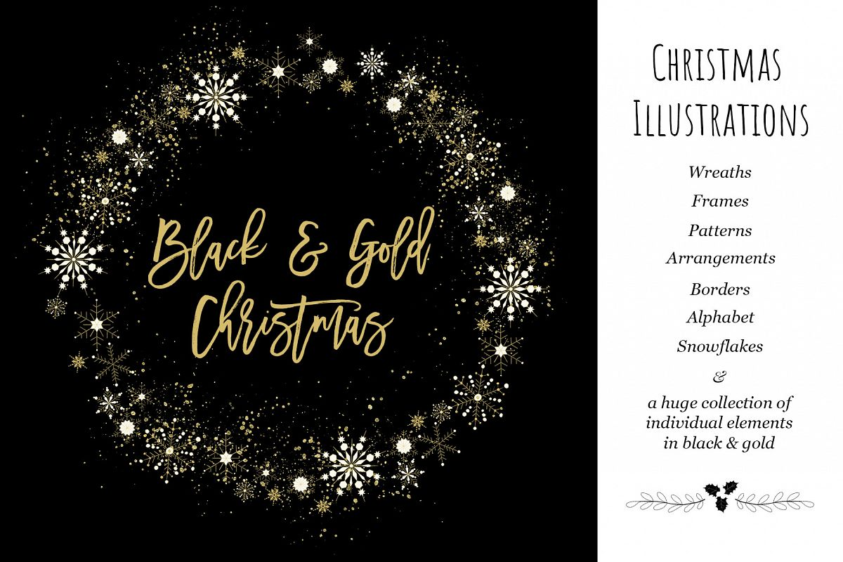 Black & Gold Christmas example image 1