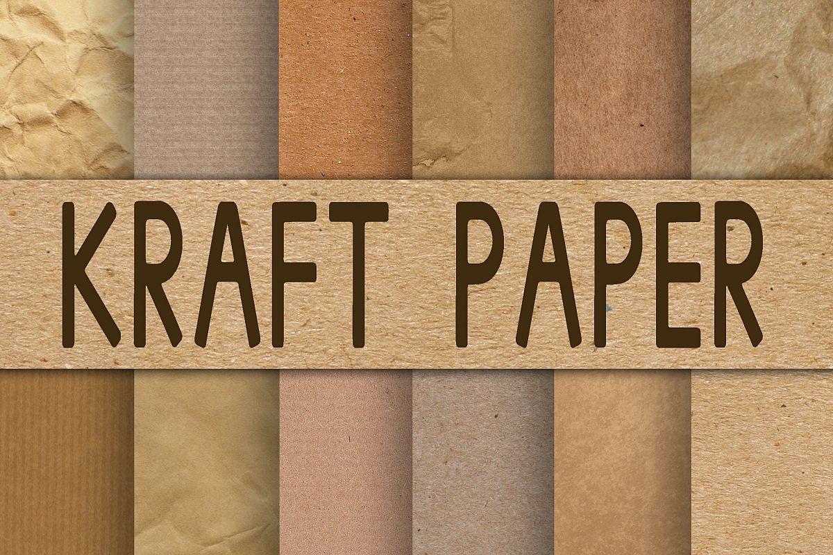 Kraft Paper Textures Digital Paper