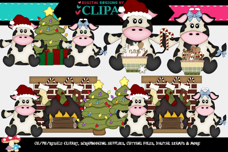 Christmas Cows 2 example image 1