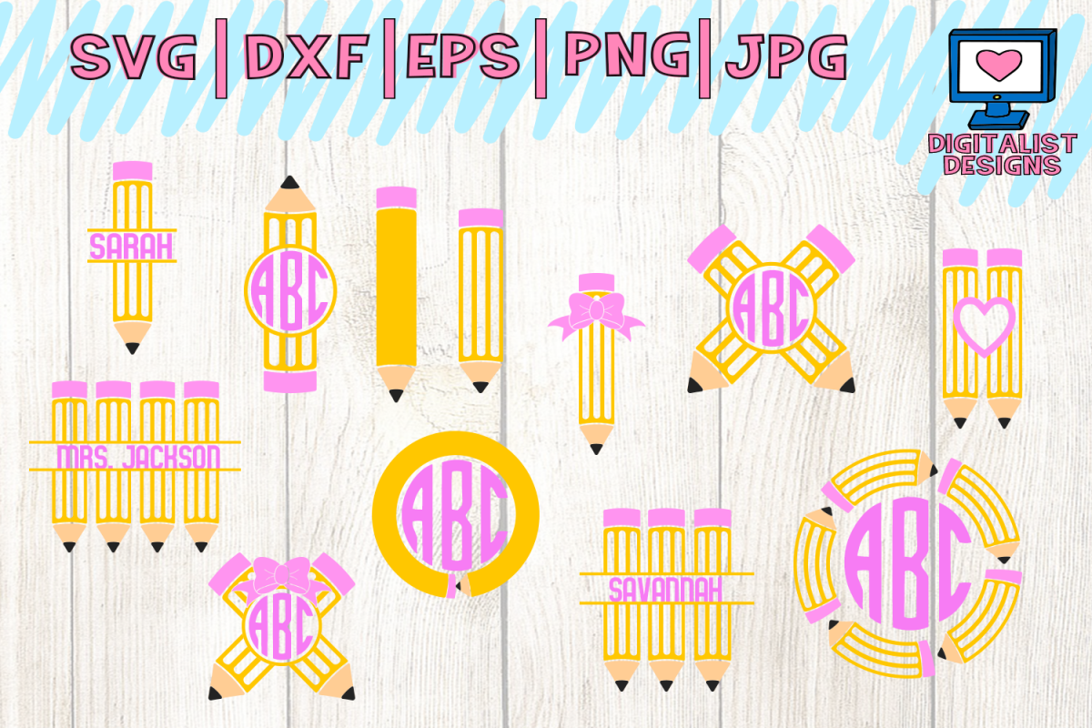 pencil bundle svg, Teacher svg, back to school svg, school example image 1