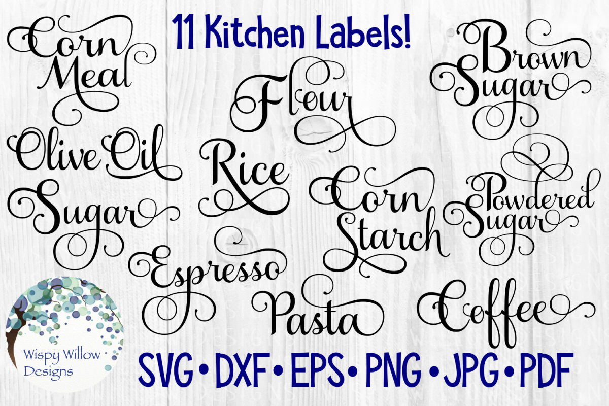 kitchen labels bundle pantry cut file