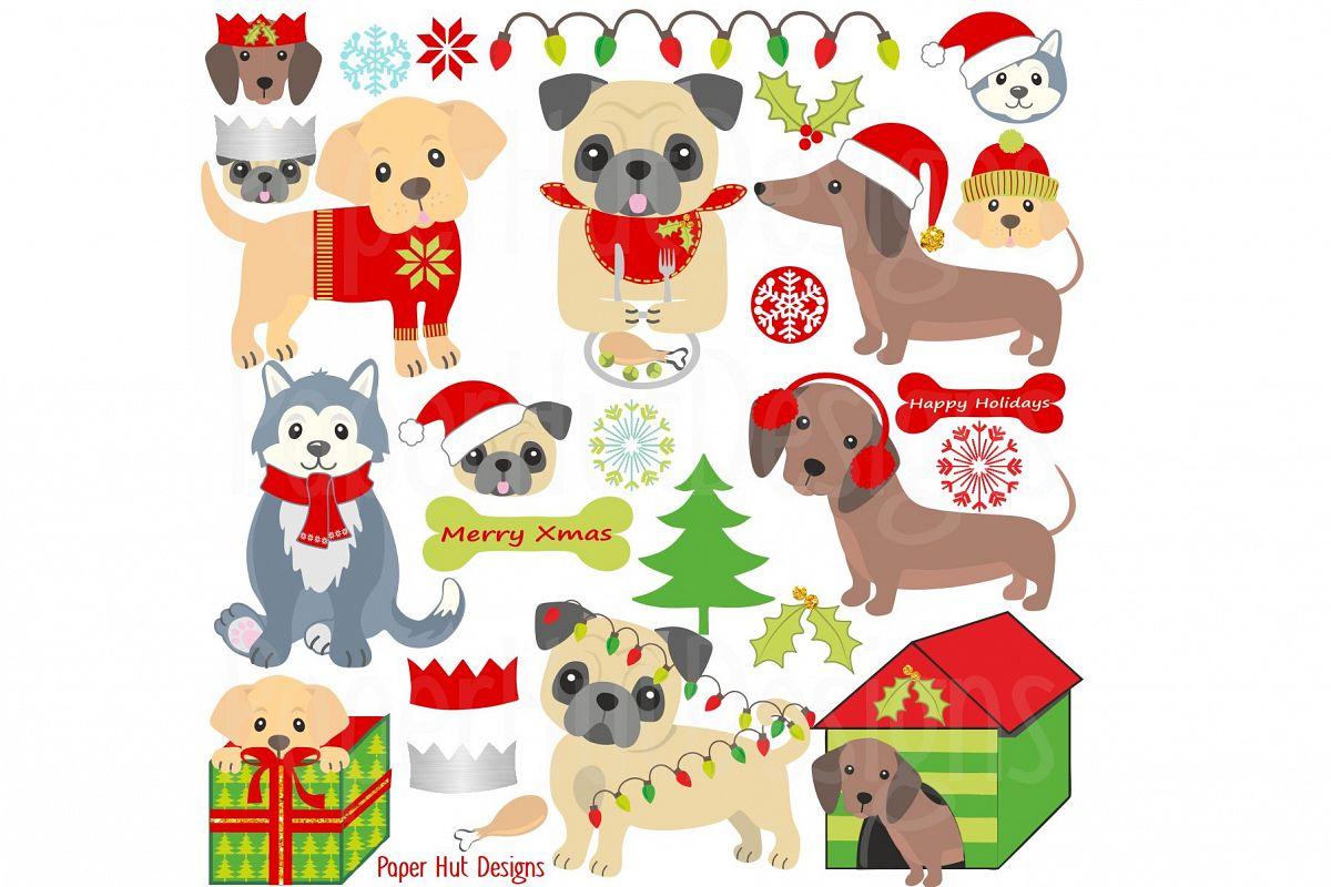 Christmas Dog.Christmas Dog Clipart