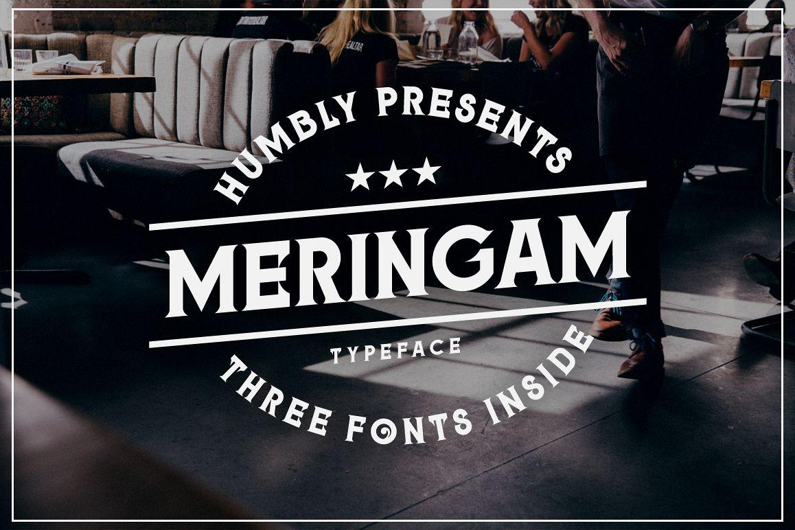 Meringam Typeface example image 1