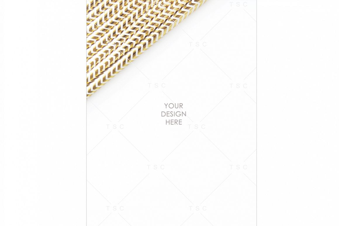 Portrait-mode Gold Party Straw Stock Photo example image 1