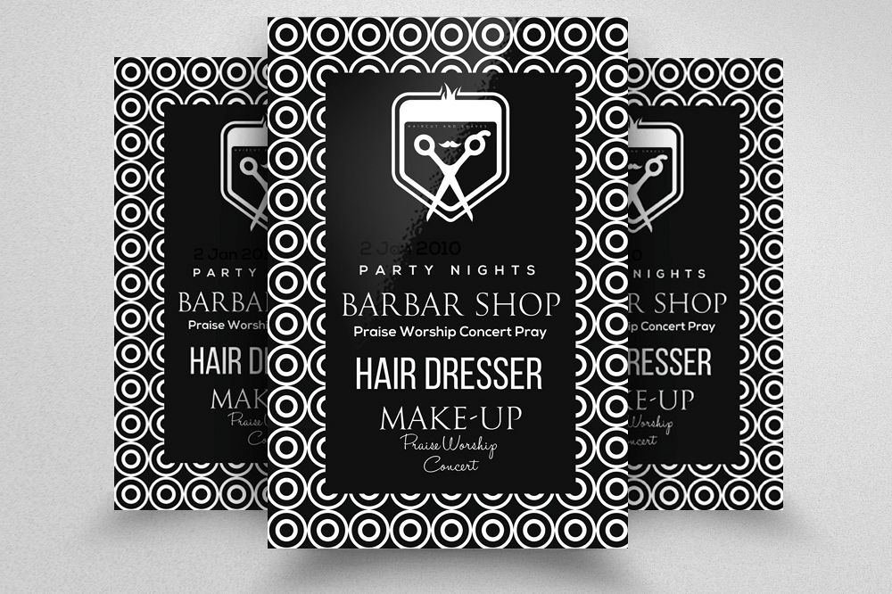 Barber Shop Flyer Template Example Image 1