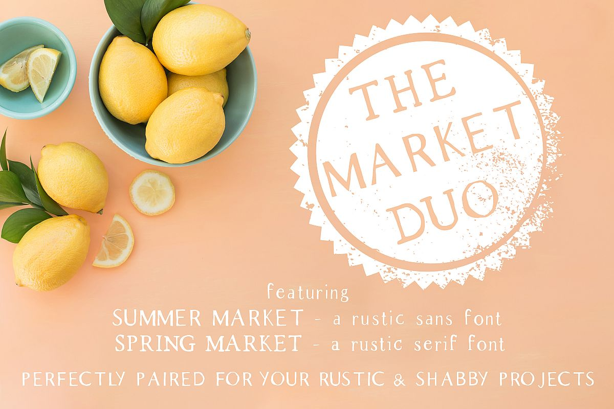 The Market Duo - Rustic Serif & Sans Font Combo example image 1