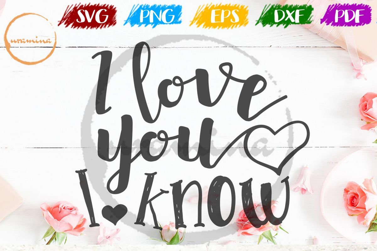 I Love You I Know Valentine SVG PDF PNG example image 1