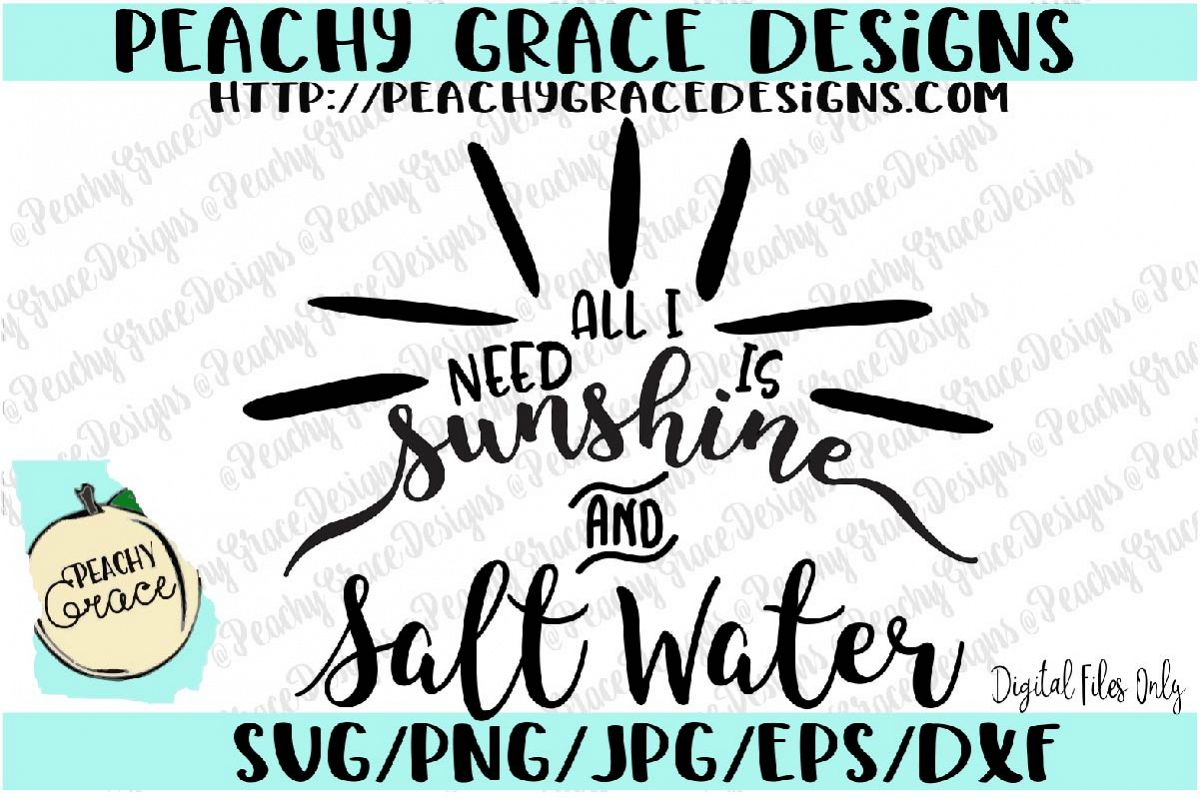 All I Need is Sunshine and salt water SVG example image 1